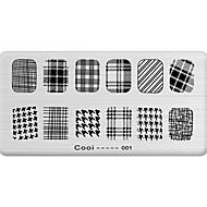 DIY Nail Art Stamp Stamping Image Template Plate/Nail Stencils Geometric Pattern