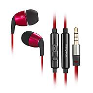 W802 3,5 milímetros de alta qualidade com cancelamento de ruído microfone no fone de ouvido da orelha para o iPhone e outros celulares