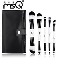 msq®5pcs白黒のダブルエンドメイクブラシセット