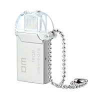 dm PD008 16gb usb 2.0 + micro usb impermeabile flash drive OTG per smart phone&calcolatore - argento