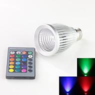 E27 10w RGB High Power LED Spot Lights Bulb With 24 Keys IR Remote Controller (85V-265V)