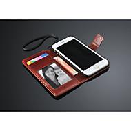 För iPhone 6-fodral / iPhone 6 Plus-fodral Plånbok / med stativ / Lucka fodral Heltäckande fodral Enfärgat Hårt PU-läderiPhone 6s Plus/6