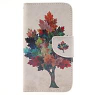 For Samsung Galaxy etui Kortholder Pung Med stativ Flip Etui Heldækkende Etui Træ Kunstlæder for Samsung J5