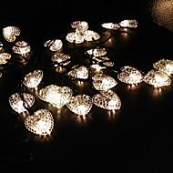 amore solare a forma di cuore stringa 6.5m luci 30LED belle luci della festa di nozze decorazione luci luci impermeabili esterne