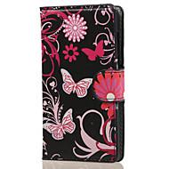 Voor Nokia hoesje Hoesje cover Portemonnee Kaarthouder met standaard Volledige behuizing hoesje Vlinder Hard PU-leer voor NokiaNokia