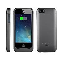 2200mAh externe draagbare back-up batterij geval voor iphone5 / 5s / 5c (diverse kleuren)