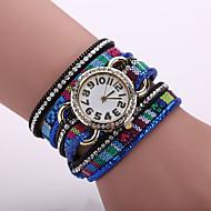 Xu™ 아가씨들 패션 시계 팔찌 시계 석영 섬유 밴드 블랙 블루 레드 브라운 퍼플