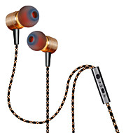 plextone® x41m in-ear metall tung bass øretelefoner med mikrofon og compatibe for iphone6 ​​/ iphone6 ​​pluss mobiltelefon / pad / mp3 /