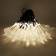 Solar Outdoor Light 5M 20LED Water Drop Shape String Light for Christmas Decoration Lights