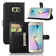 Per Samsung Galaxy Custodia Con supporto / Con sportello visore Custodia Integrale Custodia Tinta unita Similpelle SamsungS7 edge / S7 /