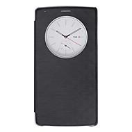 Voor LG hoesje met standaard / met venster hoesje Volledige behuizing hoesje Effen kleur Hard PU-leer LG LG G4