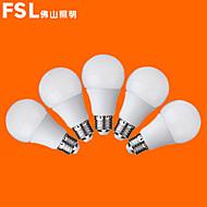 5 pcs fsl E26/E27 7W 12 SMD 3528 500 LM Warm White/Cool White G Globe Bulbs AC 220-240 V
