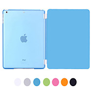 Natusun™ Slim Smart Soft PU Leather Cover Hard Translucent Plastic Shell with Sleep Bracket for Ipad air