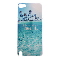 prachtige stranden leven patroon pc harde Cover Case voor ipod touch 5