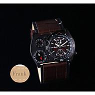 Presente personalizado Assista , Termômetro Quartzo Assista With 304 Aço Inoxidável material da Caixa Pele Genuína BandaRelógio