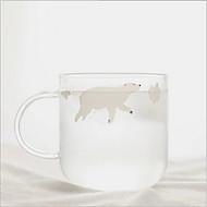 Zakka kreativa och färskvatten cup polar glas härlig kopp för hand björnar pingviner transparenta par koppar