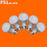 5 stk FSL e26 / e27 5W 10 smd 3528 350 lm varmhvit / kaldhvit g kloden pærer ac 220-240 v