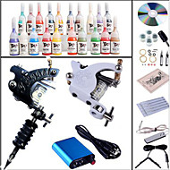Tattoo Machine Complete Kit Set Machines 20PCS Tattoo Inks Tattoo kits