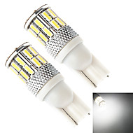 YOBO T10 194 168 501 30SMD 4014 10W 800LM SMD LED Car Signal Lights (2-Pack,DC 12-24V)