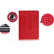 στερεά δέρμα κροκοδείλου μοτίβο χρώμα PU δερμάτινο κάλυμμα θήκη για το iPad 2/3/4 (διάφορα χρώματα)