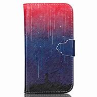 Voor Samsung Galaxy hoesje Portemonnee / Kaarthouder / met standaard / Flip hoesje Volledige behuizing hoesje Landschap PU-leer SamsungS6