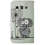 Mert Samsung Galaxy tok Kártyatartó / Pénztárca / Állvánnyal / Flip Case Teljes védelem Case Elefánt Műbőr SamsungGrand Prime / Grand Neo