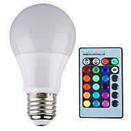 Ampoules Globe LED Gradable / Commandée à Distance / Décorative RGB 无 1 pièce A60(A19) E26/E27 5W 1 LED Haute Puissance 500 LM AC 85-265 V
