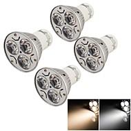 Focos Decorativa YouOKLight R63 GU10 3 W 3 LED de Alta Potencia 200 LM Blanco Cálido / Blanco Fresco AC 85-265 V 4 piezas