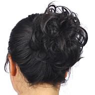 hot stijlvolle paardenstaart vrouwen clip in op haar broodje haarstukje synthetisch haar uitbreiding Chouchou