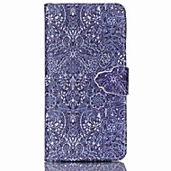 Flower Pattern PU Leather Case with Card Slot and Stand for Samsung Galaxy S4 mini/S3mini/S5mini/S3/S4/S5/S6/S6edge+