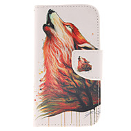 Para Samsung Galaxy Capinhas Carteira / Porta-Cartão / Com Suporte / Flip Capinha Corpo Inteiro Capinha Animal Couro PU Samsung S4