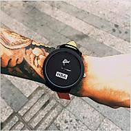 Masculino Relógio de Moda / Relógio de Pulso Quartz Relógio Casual Couro Banda Legal Preta marca