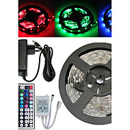 5M 150X5050 SMD RGB LED Strip Light and 44Key Remote Controller and 3A US EU UK AU Power Supply (AC110-240V)