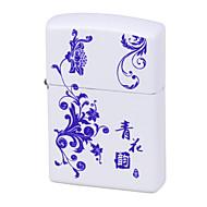 bleu&porcelaine blanche charge d'impulsion de l'arc USB Briquet ultra mince cigarette électronique coupe-vent