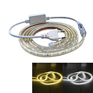Jiawen Waterproof 39W 2400LM 120x5050 SMD LED Flexible Light Strip (3M-Length / 220V)