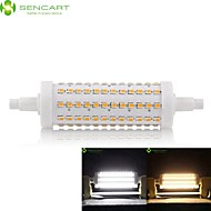 R7S 118mm 108 x 2835SMD 15W Warm White / Cool White 800LM 360°Beam Horizontal Plug Lights Dimmable Flood Light AC85-265V