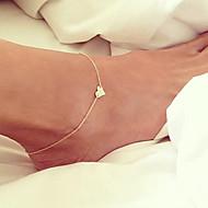 Dame Ankel/Armbånd Guldbelagt Unikt design Mode minimalistisk stil Hjerteformet Smykker Gylden Kvinders Smykker For Fest Daglig Strand1