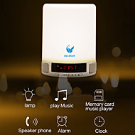 oldshark® kannettava monikäyttöinen langaton Bluetooth kaiutin handsfree kosketus johti makuuhuone lamppu herätyskello