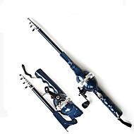 praktisk, bærbar 131 cm lang sammentrækkelig telespin-stang med fiskehjul (0,235/120,0,285/100,0,33/80)