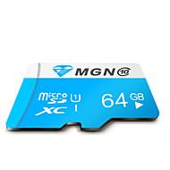 mgn original de la clase 10 64gb micro sdhc sd tf tarjeta de memoria flash de alta velocidad verdadera