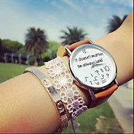 Vintage Letter It Does Not Matter I'M Always Late, Pu Women'S Watches,Gift Idea Cool Watches Unique Watches