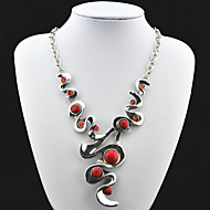 Necklace Vintage Necklaces Jewelry Party / Daily / Casual / Sports Fashion Alloy / Rhinestone Silver 1pc Gift