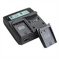 lvsun® videokamera dual lader med lcd skjerm rask lading for pasanoic blf19