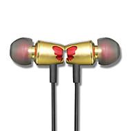 kaucer b3 sommerfugl metal øretelefon med mikrofon og controller til iphone6