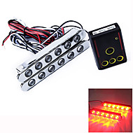 Car Auto Flashed 6 LED LED Daytime Running Light DRL Headlamp 2 Pcs