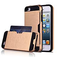iphone 7 mais alta qualidade snap-on pc + silicone inserir a tampa da caixa híbrido cartão combo armadura para o iPhone 5 / 5s