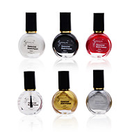 6Pcs Professional Painting Konad Stamping Oil Nail Varnish Manicure Lacquer Nail Polish
