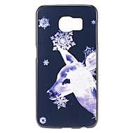 Christmas and Deer Pattern PC Hard Back Cover Case for Samsung Galaxy S6