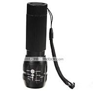 Lampes Torches LED LED 3 Mode 500 Lumens Etanche / Rechargeable / Résistant aux impacts / Tête crénelée / Urgence / Zoomable Cree Q5 AAA