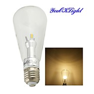 6W E26/E27 LED gömbbúrás izzók B 12 SMD 5050 500 lm Meleg fehér Dekoratív AC 85-265 V 1 db.
